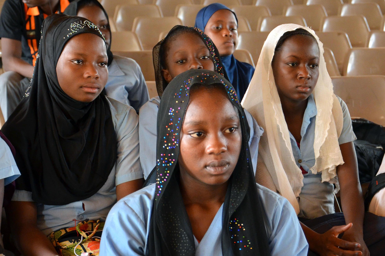 L'enlèvement des jeunes lycéennes par le groupe Boko Haram au Nigeria avait suscité la mobilisation dans plusieurs pays africains. Ici à Niamey, capitale du Niger. 8 mai 2014.