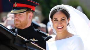 El príncipe Enrique y Meghan Markle después de su boda, en mayo de 2018
