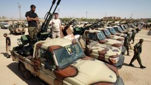 Majeshi yanayoongozwa na Marshal Khalifa Haftar, huko Bengazhi. (picha ya kumbukumbu.