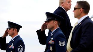 Tổng thống Mỹ Donald Trump tại sân bay JFK, New York, ngày 02/12/2017