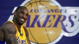 L'arrière des L.A. Lakers Kobe Bryant, prêt pour la défense du titre.