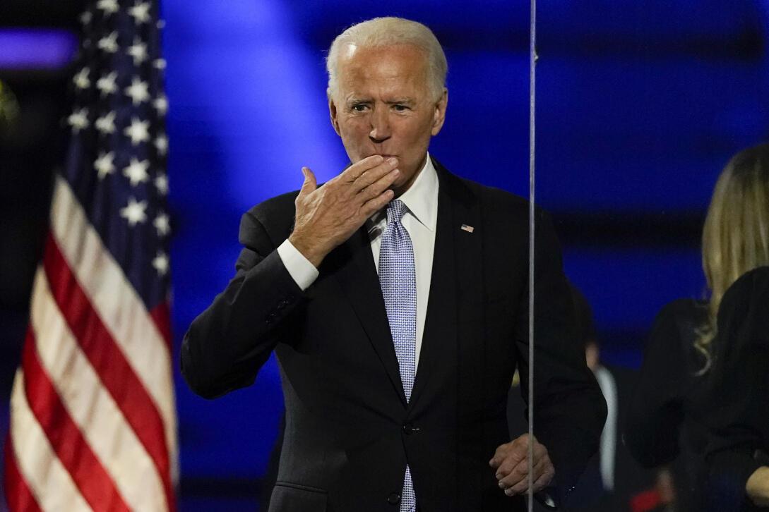 Joe Biden, Presidente eleito dos Estados Unidos.