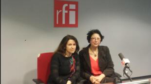 De gauche à droite : Alla Lazareva et Galia Ackerman.