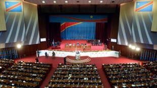 Le président Joseph Kabila lors d'un discours devant le Parlement, le 15 décembre 2012.