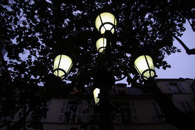 Le lampadaire de la place Fustenberg.
