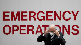 4月8日,邁阿密海灘野戰醫院新聞發布會