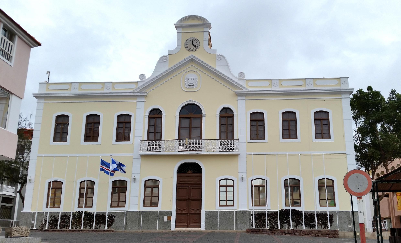 Câmara Municipal de Mindelo, na ilha de São Vicente, uma das principais câmaras em disputa nas eleições municipais de 4 de setembro 2016.