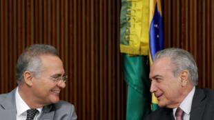 Renan Calheiros é apresentado pela imprensa internacional com um aliado do presidente Michel Temer