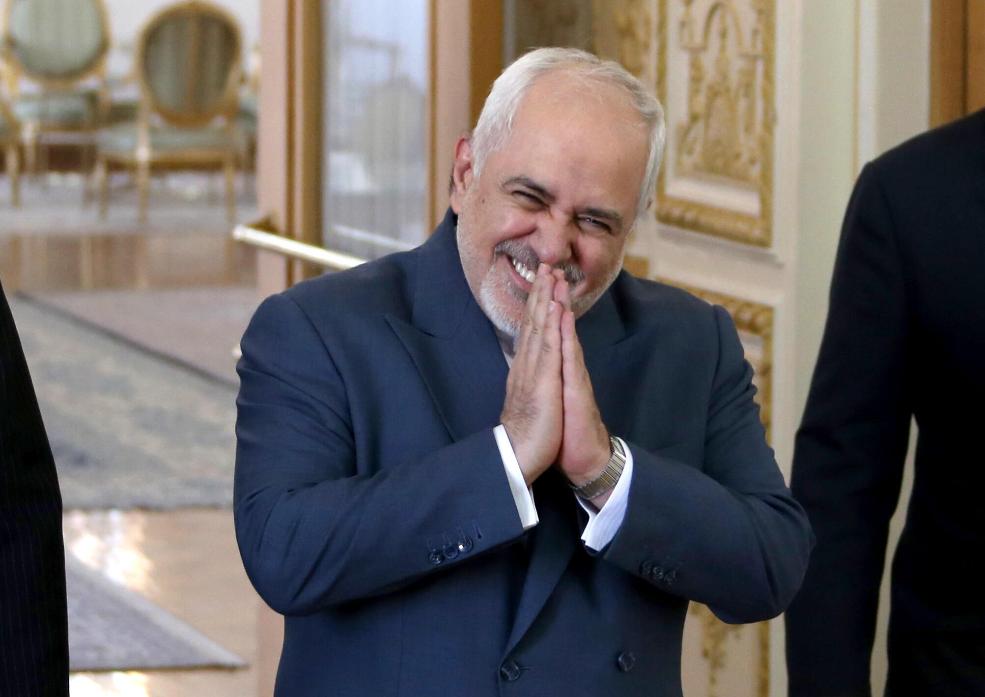 el jefe de la diplomacia iraní Mohammad Javad Zarif hizo el anuncio en su cuenta de Instagram.