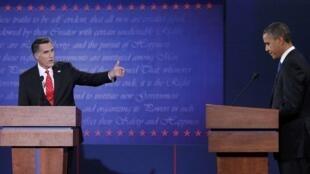 Os candidatos à presidência dos EUA, o republicano Mitt Romney  e o atual presidente, Barack Obama,participaram nesta quarta-feira (3) do primeito debate da campanha eleitoral.