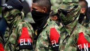 Guerrilleros del Ejército Nacional de Liberación (ELN) de Colombia.