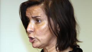(Photo d'archive) Catherine Marchi-Uhel en 2008 à Pnom Penh lors du procès des Khmers rouges.