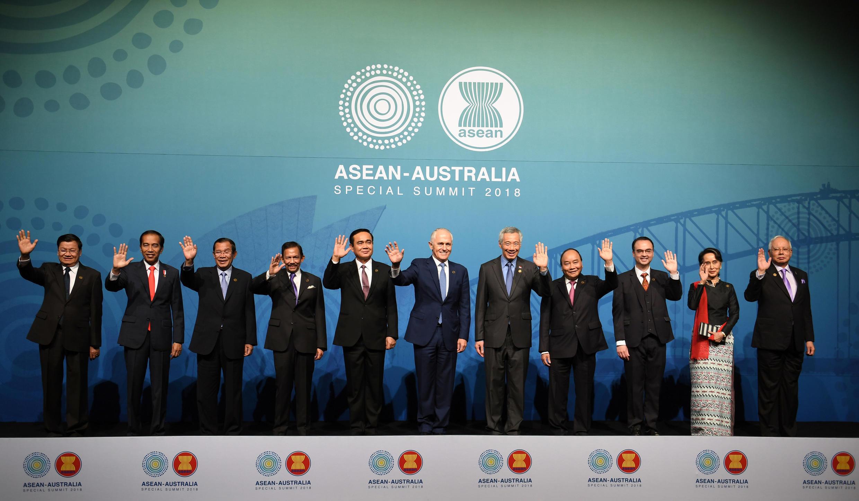 Les dirigeants des pays présents lors du sommet de l'Asean.