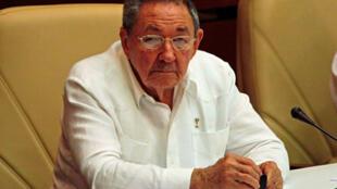 Chủ tịch Cuba Raoul Castro nhân khóa họp quốc hội ngày 01/08/2010 tại La Habana.