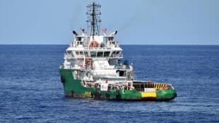 Le Bourbon Argos, affrété par MSF pour le sauvetage de migrants en Méditerranée, ici le 26 septembre 2015.