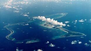 La base militaire américaine de Diego Garcia, installée sur l'une des îles de l'archipel des Chagos.