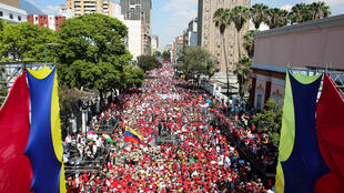 Manifestation en soutien à Nicolas Maduro à Caracas, le 6 avril.