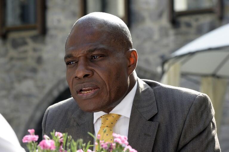 Martin Fayulu, président du parti d'opposition de la République démocratique du Congo-Engagement pour la citoyenneté et le développement (ECiDe), candidat à l'élection présidentielle passée, un des leaders de la coalition d'opposition Lamuka,le 10/06/2016.