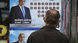 "Three-time premier Boyko Borisov has refused all media contact, broadcasting on social media his campaign trail visits under the slogan ""Work, work, work!"""