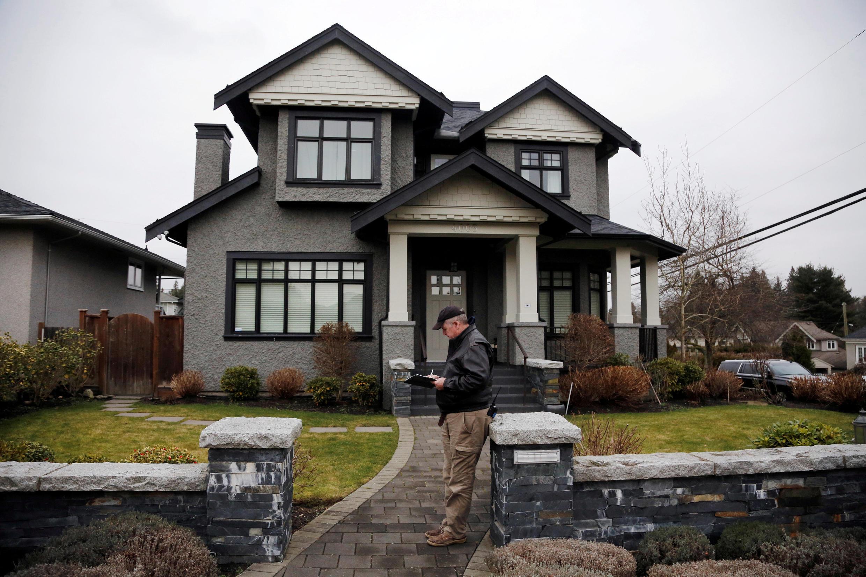 图为引发中国网民愤慨的华为财务总监孟晚舟被加拿大逮捕案,获保释后住在温哥华自家的私宅。