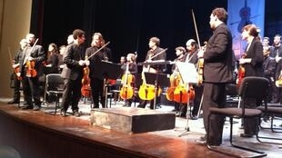 L'Orchestre national de Palestine ce jeudi soir à Ramallah.