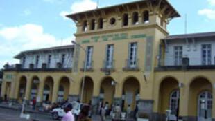 La gare d'Addis-Abeba.