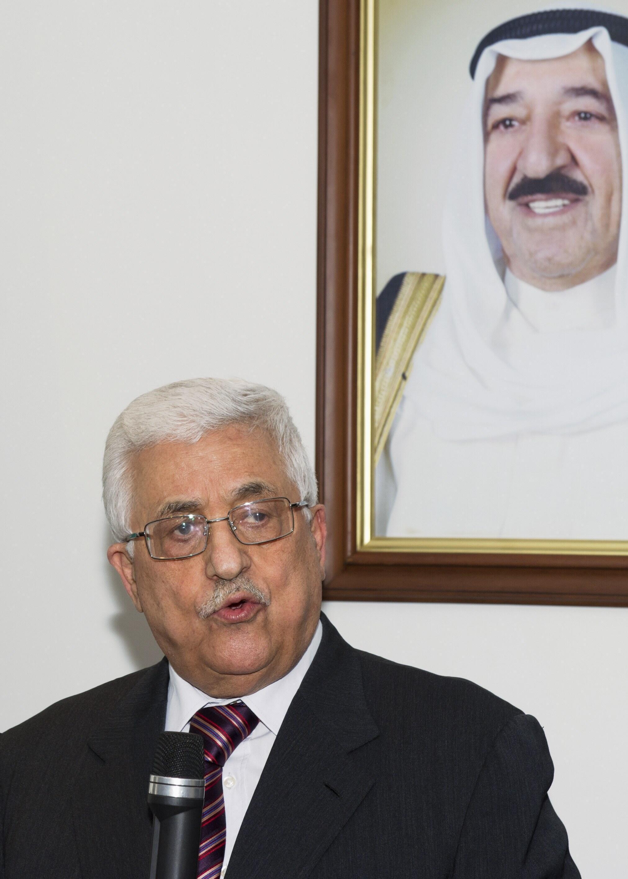Le président palestinien Mahmoud Abbas, le 15 avril 2013.