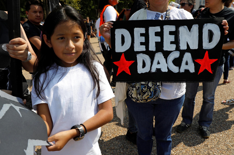 Manifestación en defensa del DACA, el 5 de septiembre de 2017 en Washington.