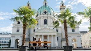 La Karlskirche, ou église Saint-Charles, à Vienne.