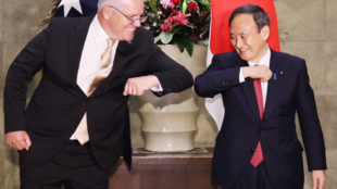 澳大利亞總理莫里森與日本首相菅義偉資料圖片