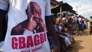 Un partisan de Laurent Gbagbo en Côte d'Ivoire, en juillet 2018. (Image d'illustration)