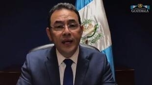 Capture d'image: le President de Guatemala Jimmy Morales 危地馬拉總統莫拉萊斯