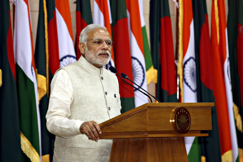 Le Premier ministre indien Narendra Modi, le 6 juin 2015 à Dacca.