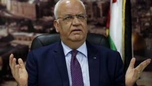 صائب عریقات مسئول مذاکرات فلسطین با اسرائیل