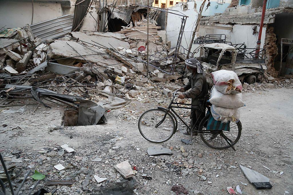 Destructions à Douma, octobre 2016.
