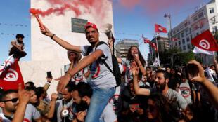 Plus de deux mille personnes ont manifesté samedi 14 mai 2017, à Tunis.