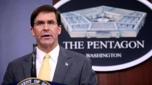 美國國防部長埃斯珀資料圖片
