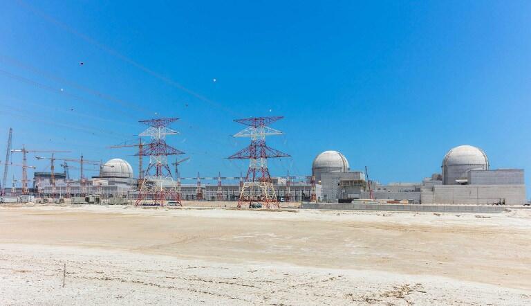 """نیروگاه هستهای در حال ساخت """"براکه"""" در ٣٠٠ کیلومتری غرب ابوظبی"""