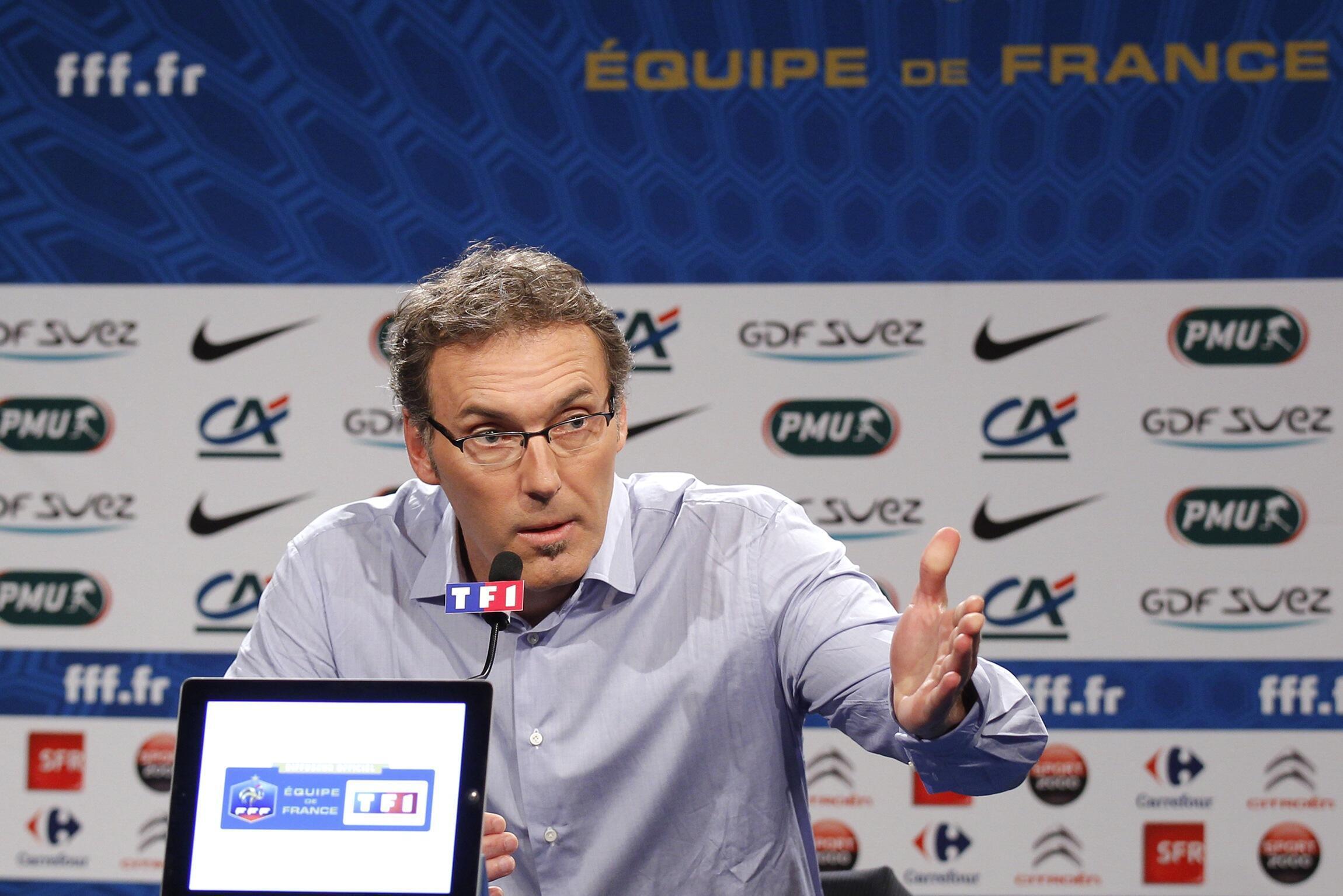 Главный тренер сборной Франции по футболу Лоран Блан, Париж, 9 мая 2012 года