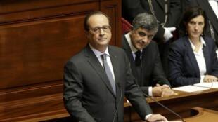 François Hollande s'est exprimé devant le Congrès, exceptionnellement conviqué à Versailles le 16 novembre 2015.