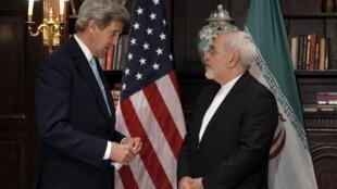دیدار روز ۲۲ آوریل کری و ظریف، وزرای امورخارجه آمریکا و ایران در نیویورک