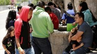 Migrantes centroamericanos en Ciudad Juárez, México, el 14 de junio de 2019.