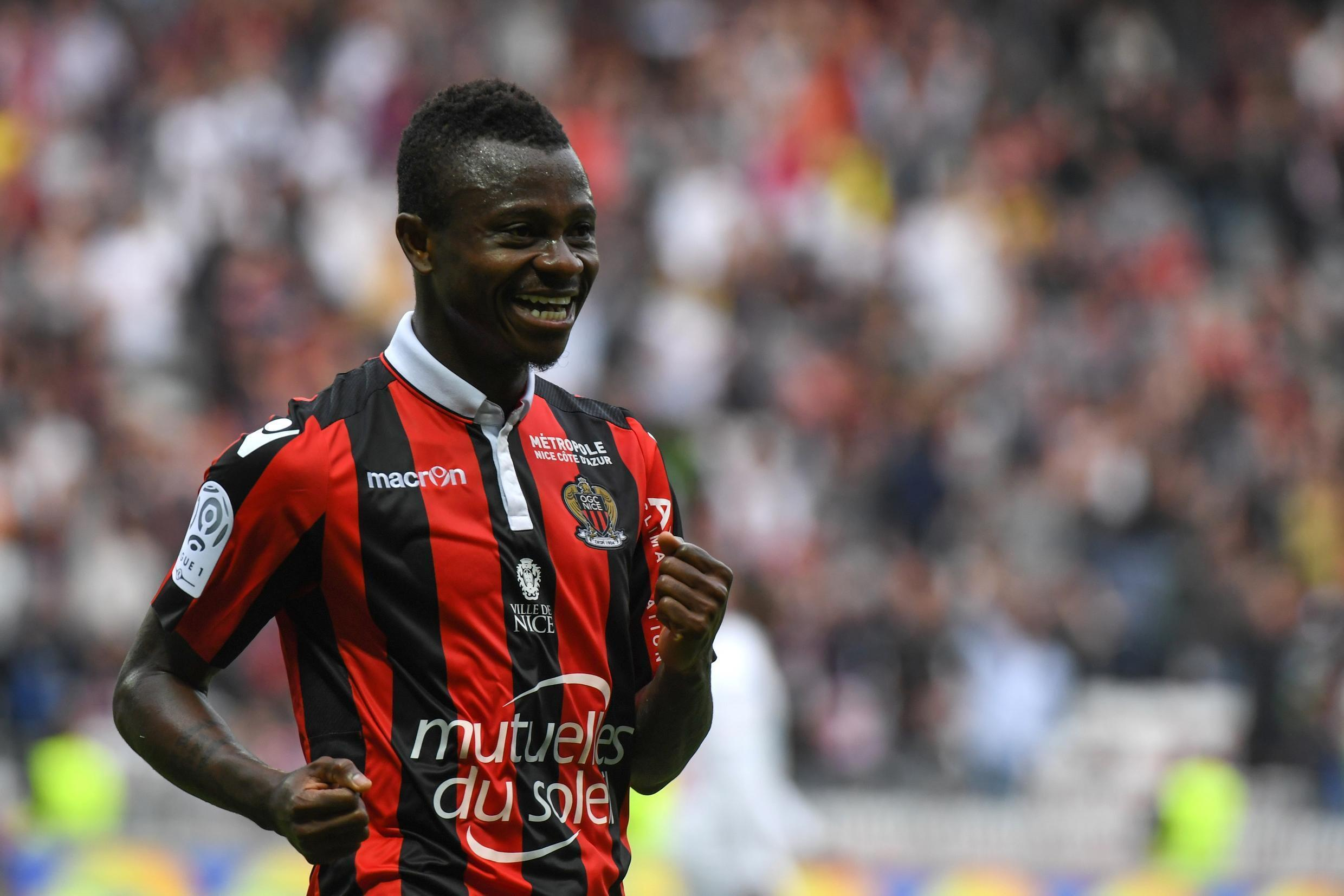 Jean Michaël Seri après un but face à Nancy, le 15 avril 2017.