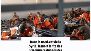 2020-12-06 france journalism Allan Kaval le monde slow death of jihadists in northeastern Syria