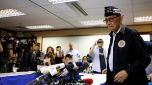 菲律賓前總統拉莫斯在香港記者招待會上,2016年8月12號