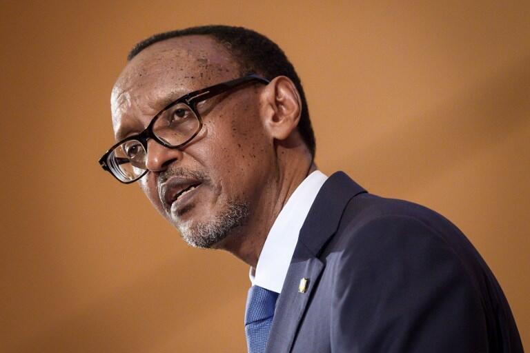 Le président rwandais Paul Kagame lors de l'Assemblée mondiale de la santé à Genève, le 21 mai 2018.