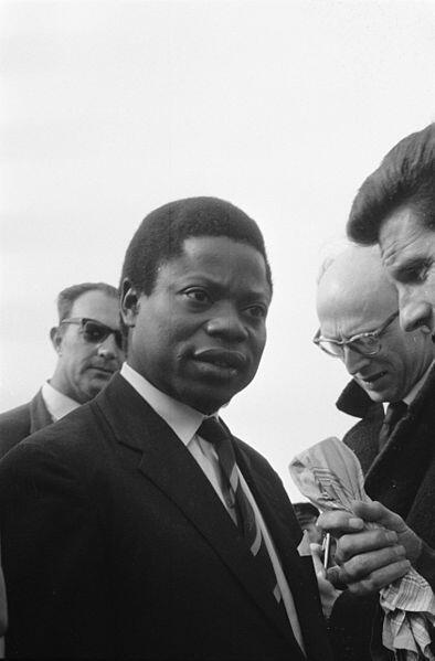 Le Congolais Justin Marie Bomboko en 1960.