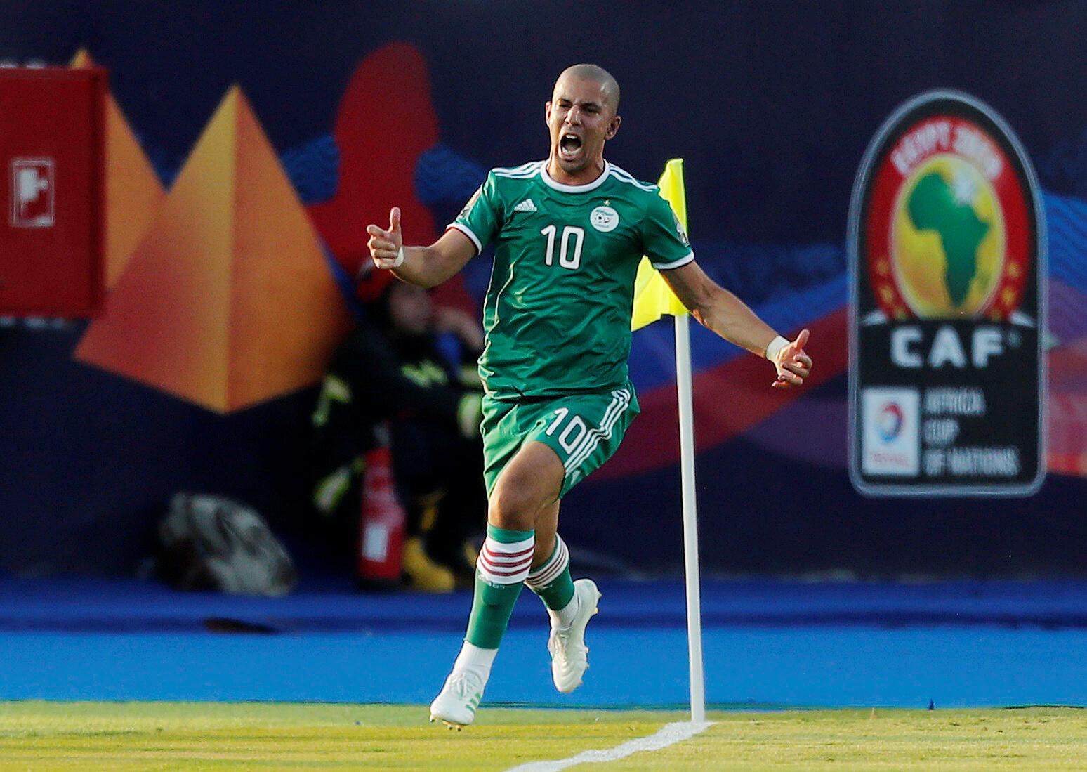 Sofiane Feghouli a ouvert le score pour l'Algérie contre la Côte d'Ivoire.