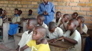Des élèves dans une classe dans le nord du Congo-Brazzaville.