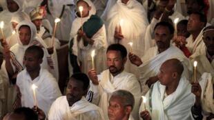 Người theo Thiên chúa giáo tại Addis-Abeba.